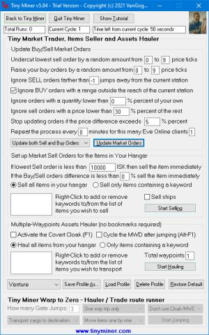 TinyTrader Eve Online Market Bot - Eve Market Trading Bot